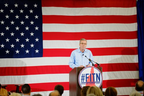 Governor_of_Florida_Jeb_Bush_at_FITN_2015_in_NH_by_Michael_Vadon_03