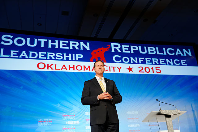 Rick_Santorum_at_Southern_Republican_Leadership_Conference,_Oklahoma_City,_OK_May_2015_by_Michael_Vadon_05a