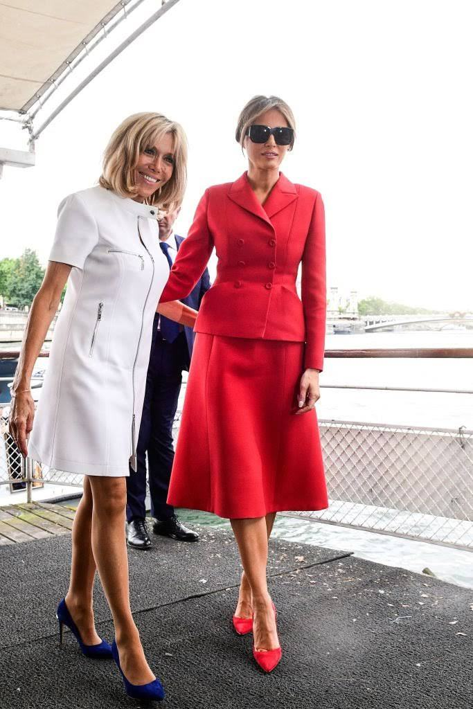 First Ladies of Fashion! — What Melania Trump and Brigitte Macron Wore in Paris