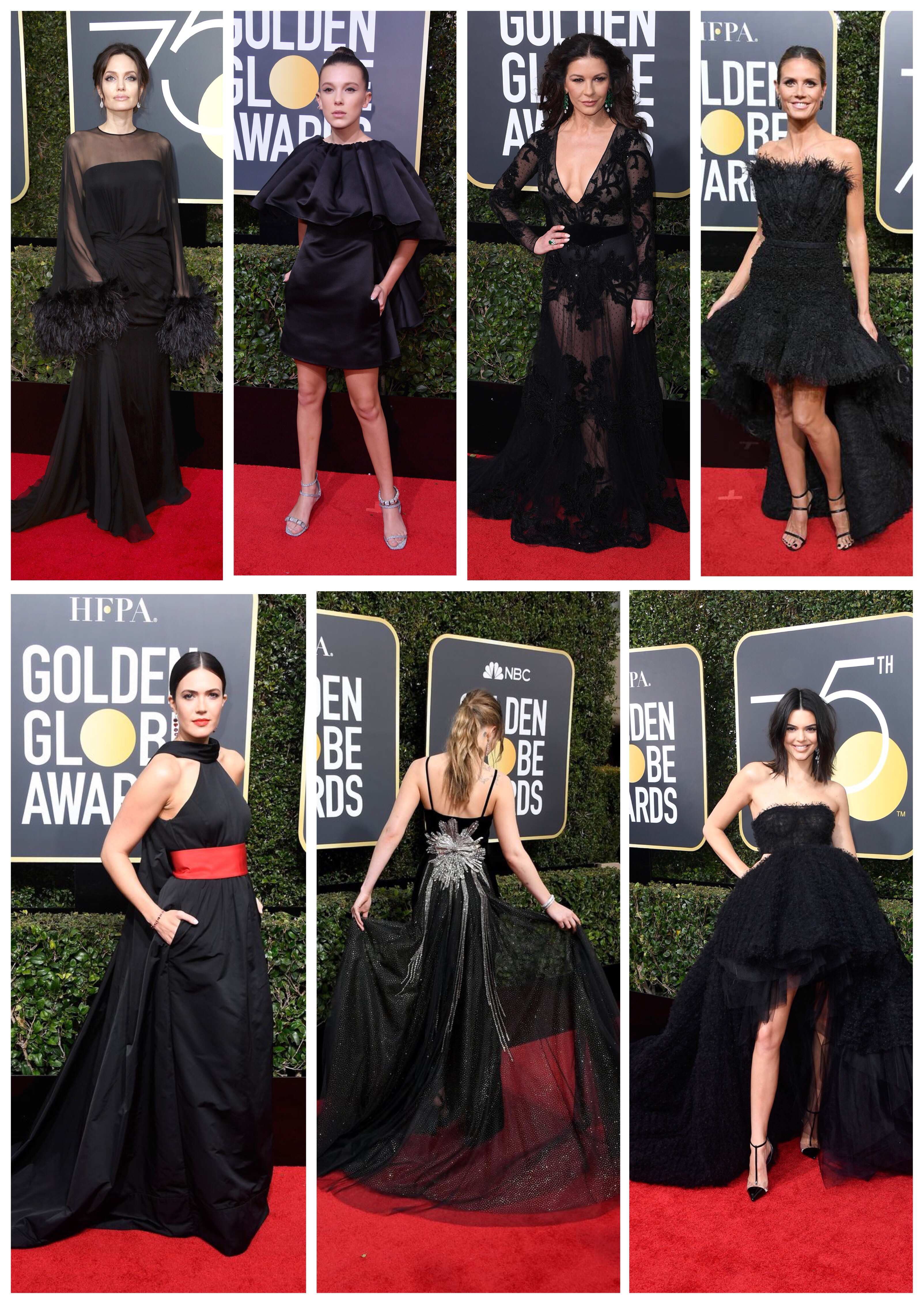 Best Dressed Black Gowns From The 2018 Golden Globes