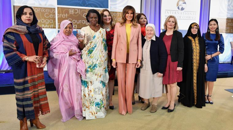 What Melania Wore to the 2018 International Women of Courage Ceremony