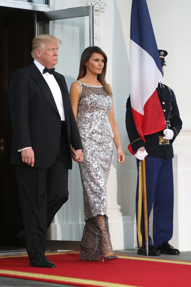 What Melania Wore For First Official State Dinner