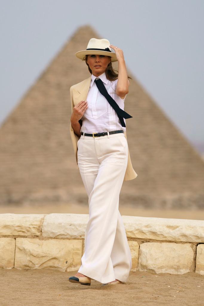 What Melania Wore Touring Egypt