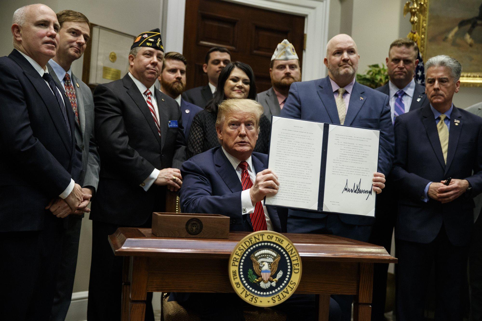 Trump Signs Executive Order to Address Veteran Suicide