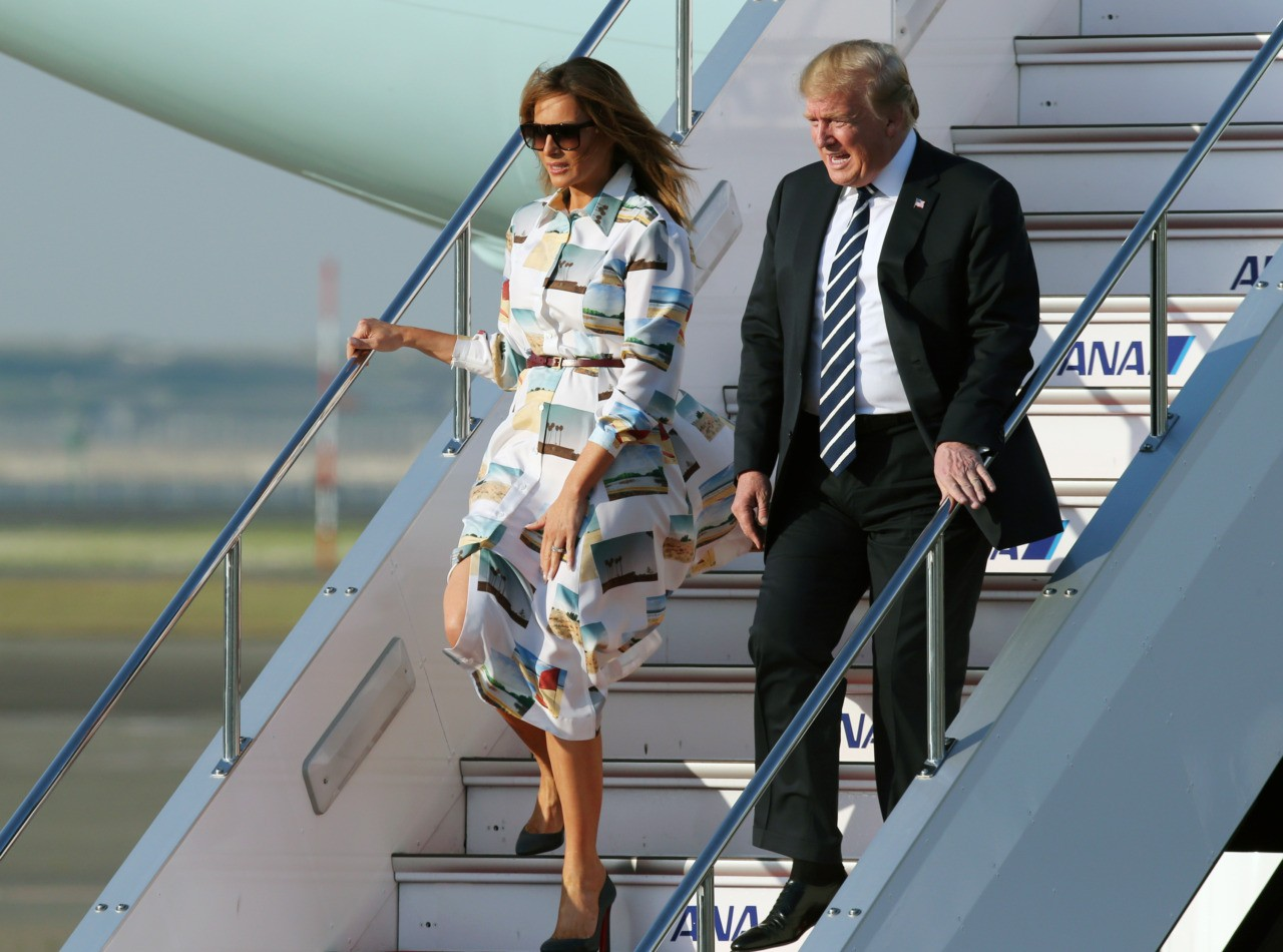 What Melania Wore Heading to Japan
