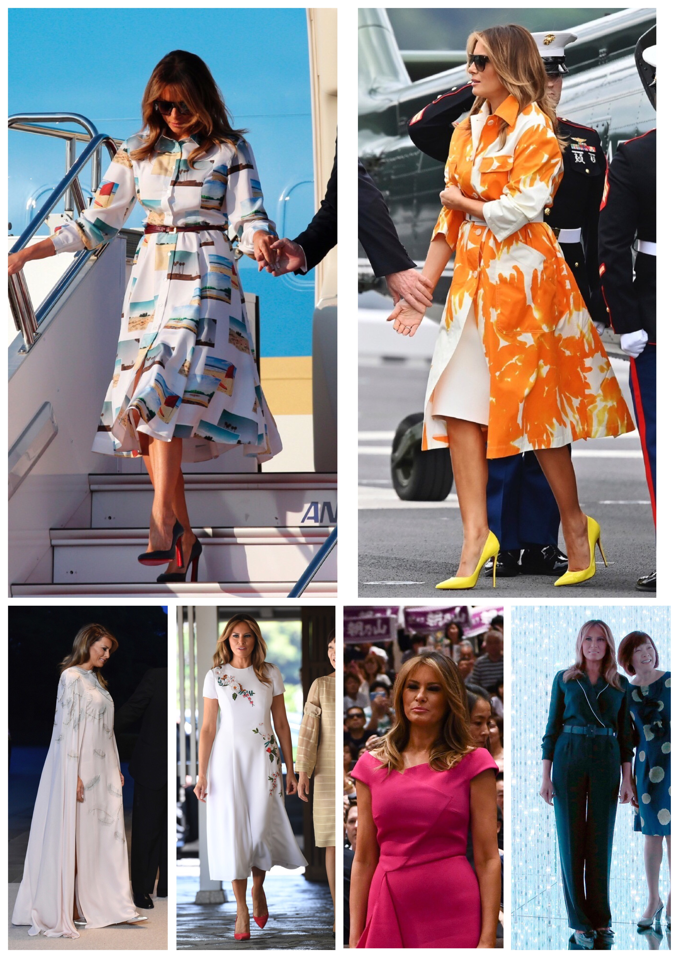 Melania Trump's Fashionable Outfits in Japan