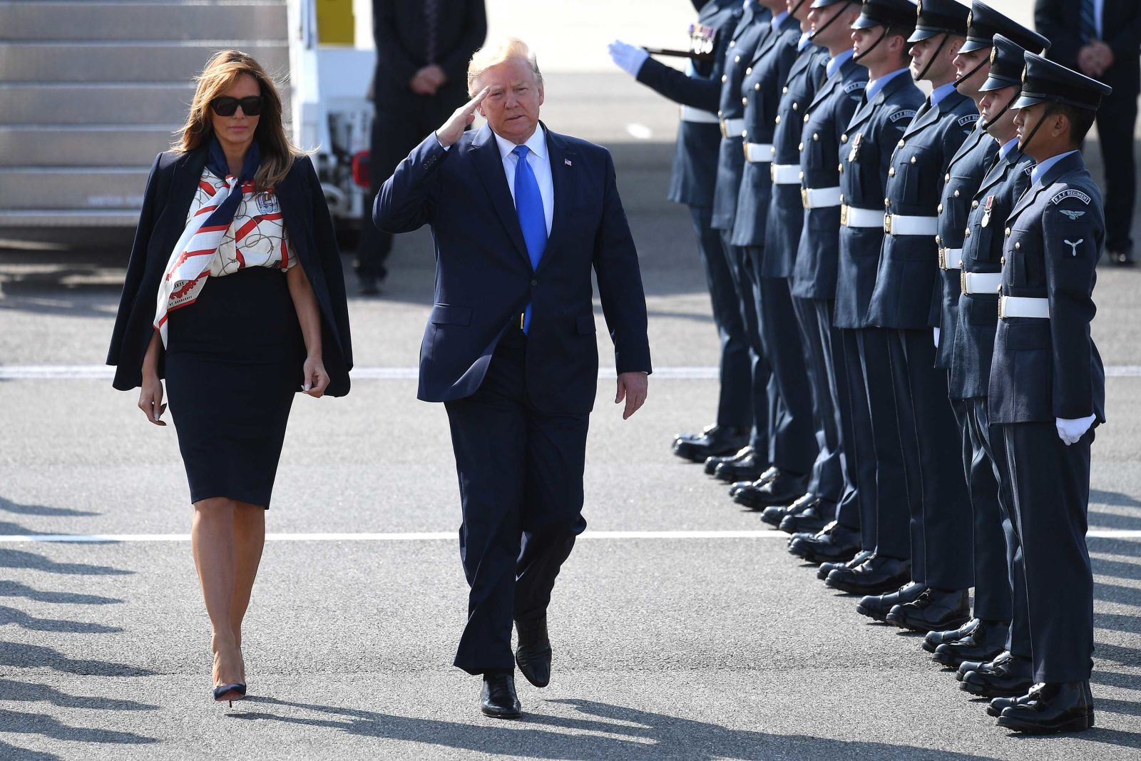 What Melania Wore Arriving to London