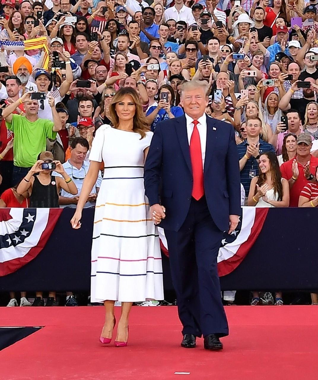 What Melania Wore to Salute To America Event