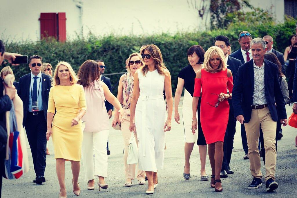 What Melania Wore Touring the Basque region with G7 Spouses