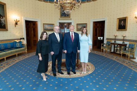 What Melania Wore Welcoming Australian Prime Minister to the WH
