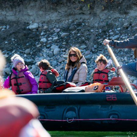 What Melania Wore Rafting down Snake River in Wyoming