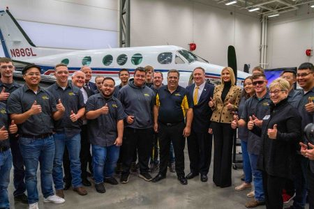 What Ivanka Wore Touring the WSU-Tech's National Center for Aviation Training