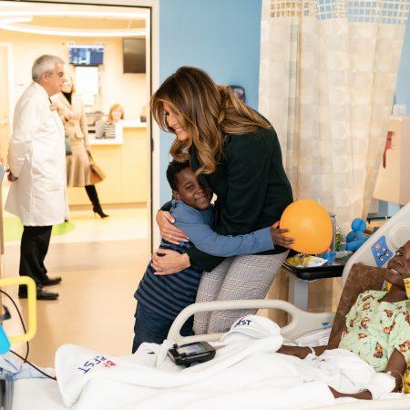 What Melania Wore Visiting Boston Medical Center Infant Program