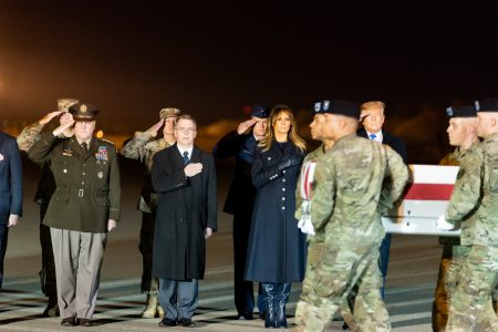 What Melania Wore Attending the Dignified Transfer Ceremony