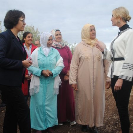 What Ivanka Wore Touring an Olive Grove
