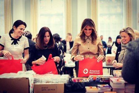 What Melania Wore Visiting American Red Cross Headquarters