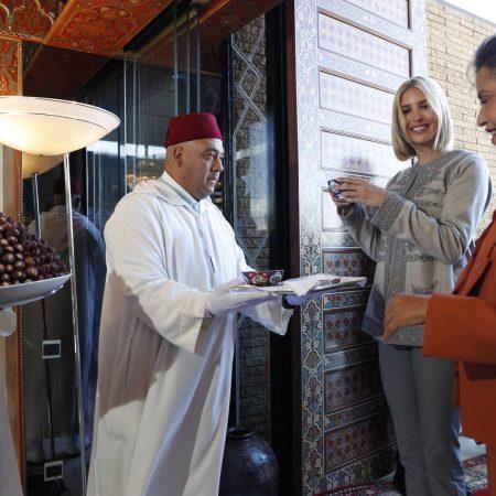 What Ivanka Wore Having Tea with Morocco Princess