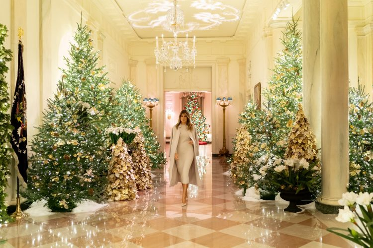 What Melania Wore Unveiling 2019 White House Christmas Decoration