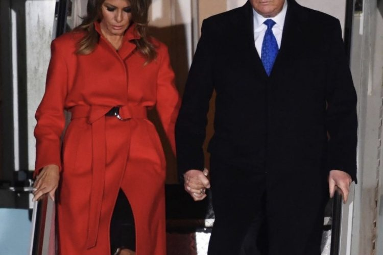 What Melania wore Arriving to London for NATO Summit